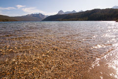 Redfish Lake and Sawtooth Mountains in Idaho Stock Images