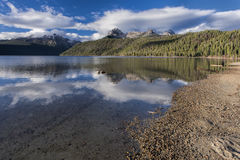 Redfish Lake on a sunny day. Royalty Free Stock Photography