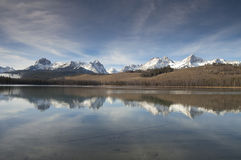 Redfish Lake Water Reflection Sun Valley Idaho Sawtooth Mountain Royalty Free Stock Image