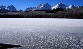 Redfish Lake In Winter Stock Images