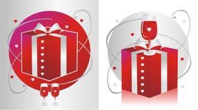 RedGlassPresent Royalty-vrije Stock Afbeeldingen