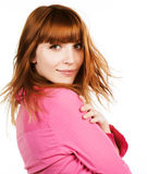 Redhair beauty Stock Photo