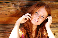 Redhair beauty Stock Photography