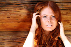 Redhair beauty Stock Image