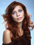Redhair beauty woman Stock Photos