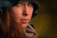 Redhair flicka Fotografering för Bildbyråer