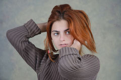 Redhair girl Stock Images