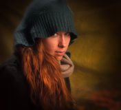Redhair-Mädchen Lizenzfreies Stockbild