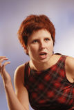 Redhair woman Stock Image