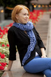 Redhaired beauty Stock Image