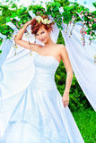 Redhaired bride Stock Image