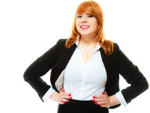 Redhaired business woman portrait stock photos