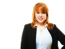 Redhaired business woman portrait royalty free stock photo