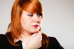 Redhaired business woman portrait Stock Photo