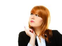 Redhaired business woman portrait Stock Image