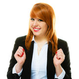 Redhaired business woman portrait stock photography