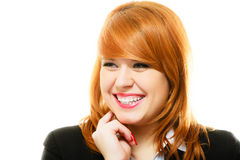 Redhaired business woman portrait royalty free stock photos