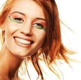 Redhaired Frau Stockfotos