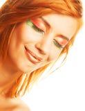 redhaired kvinna Arkivfoto