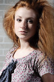 Redhaired mysterious woman Stock Image