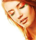 Redhaired vrouw Stock Afbeeldingen