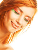 Redhaired woman Stock Photo