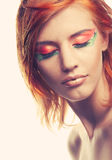Redhaired woman Royalty Free Stock Images