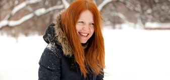 Redhaired young woman Royalty Free Stock Photo