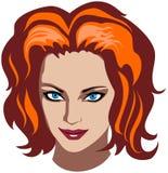 redhead γυναίκα προσώπου διανυσματική απεικόνιση