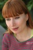 redhead γυναίκα Στοκ Φωτογραφία