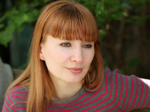 redhead γυναίκα Στοκ φωτογραφία με δικαίωμα ελεύθερης χρήσης