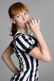 redhead διαιτητής Στοκ Εικόνες