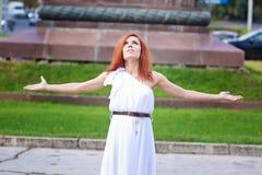 Redhead κορίτσι Στοκ Εικόνες