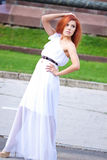 Redhead κορίτσι Στοκ εικόνα με δικαίωμα ελεύθερης χρήσης