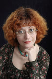 redhead στοχαστικός πορτρέτου Στοκ Εικόνες