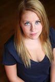 redhead девушки веснушек предназначенный для подростков Стоковые Изображения RF