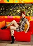 redhead девушки стоковое изображение rf