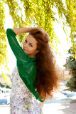 Redhead и ветер стоковые фото