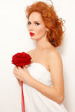redhead невесты стоковые фотографии rf