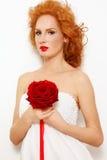 redhead невесты стоковая фотография rf