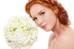redhead невесты стоковое фото