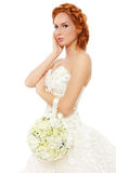 redhead невесты стоковое изображение