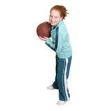 redhead ребенка баскетбола Стоковое Изображение RF