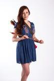 Redhead с стрелками Стоковое Изображение