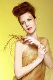 redhead девушки Стоковые Изображения