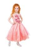 Милая маленькая девушка redhead Стоковые Изображения