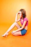 redhead 4 предназначенный для подростков Стоковые Изображения