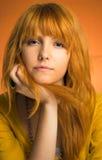 Redhead adolescente con actitud. Fotos de archivo libres de regalías