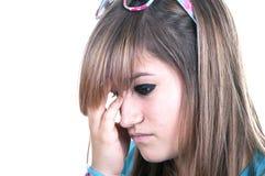 Redhead adolescente con l'emicrania Immagini Stock Libere da Diritti