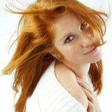 Redhead atractivo Fotografía de archivo